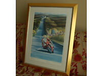 "Joey Dunlop at 2000 TT - Stunning print by Verner Finlay - 35"" x 27"""
