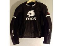 Postage Available *BKS Tiger Leather Motorcycle Jacket *Sports Track *EU 58 UK 48 *VGC *RRP £225