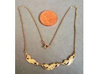 vintage rolled gold necklace