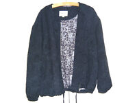 Navy Bomber jacket from M and S, size 20, never worn