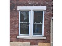 Two large double glazed windows - sash style with frames