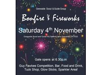 Bonfire and Firework Display - Grenoside Scout & Guide HQ – Saturday 4th November 2017