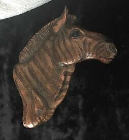 Bronze Look Horse 3D wall Plaque - Perfect condition