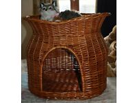 Two-tier Wicker Cat Bed
