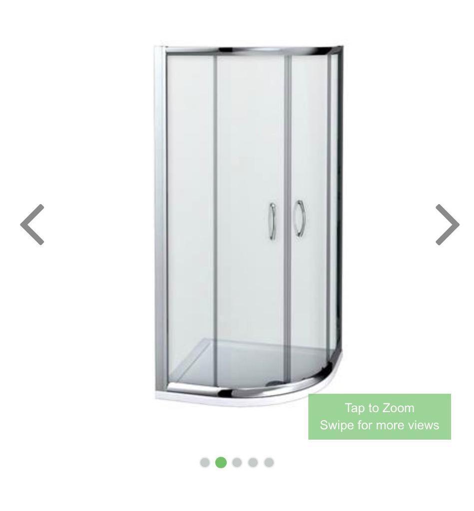 Newark 700 x 700mm Small Quadrant Shower Enclosure + Pearlstone Tray ...