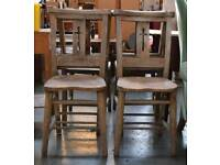 Set of four vintage chapel chairs