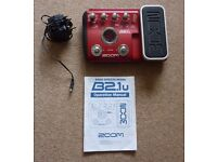 ZOOM MULTI- EFFECTS BASS PEDAL - B2.1u - WITH USB, FULL MANUAL AND POWER ADAPTER