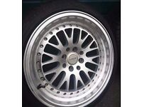 """Ultralite UL10 Deep Dish alloys and tyres - 16"""" 8J 4x100/114.3 New tyres mx5, clio, ford,polo"""