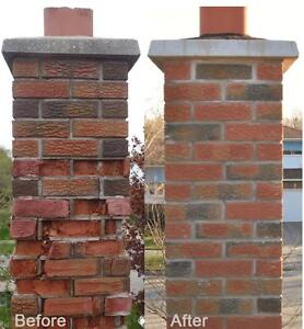 Brick repairs new build or restore chimney repairs