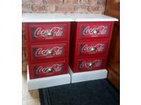 Pair of Coca-Cola Bedside Cabinets