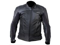 LEATHER MOTORCYCLE JACKET FRANK THOMAS Dynamic Jacket Black LIKE NEW SIZE UK 40