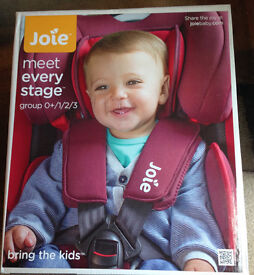 JOIE EVERY STAGE CAR SEAT 0+/1/2/3 BRAND NEW IN BOX *******