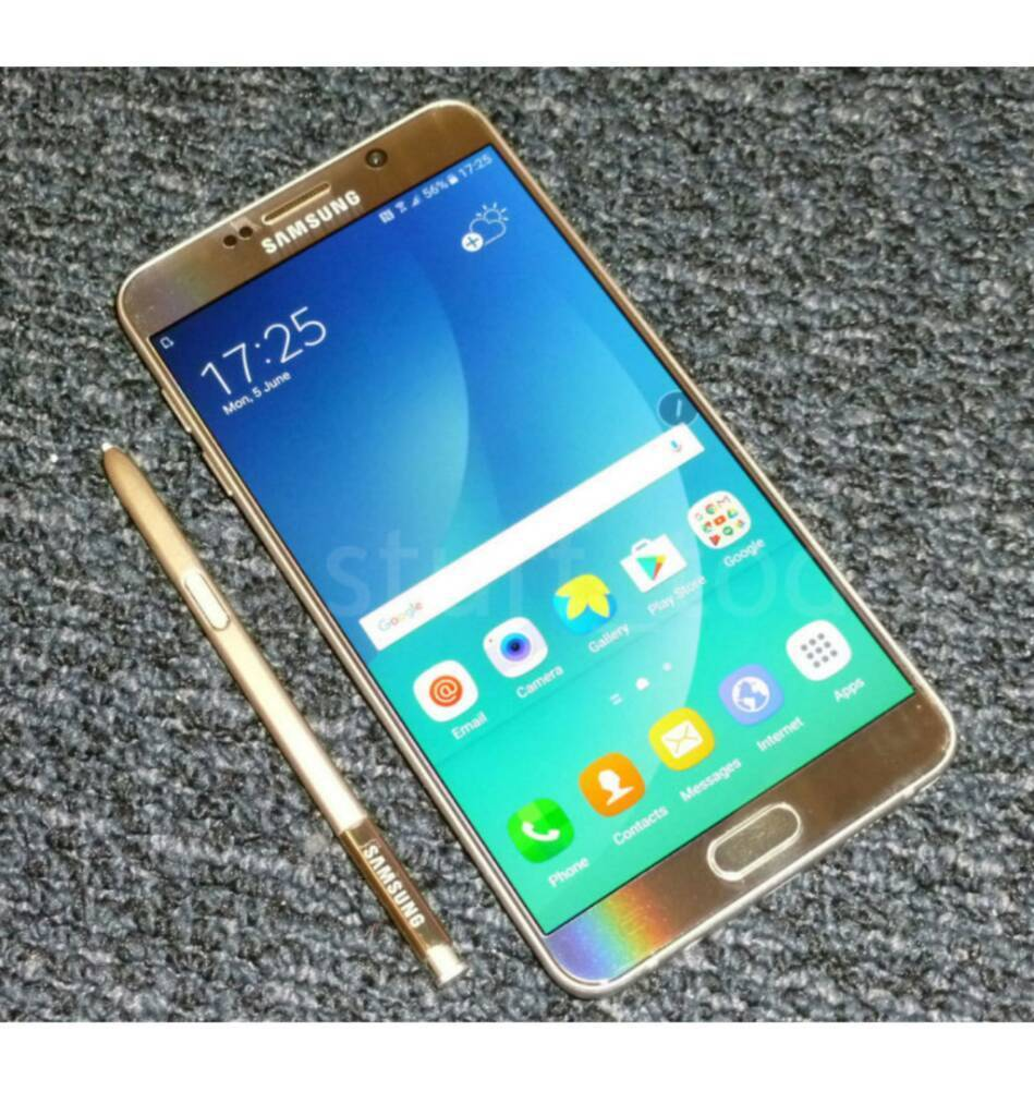 Samsung Galaxy Note 5 Goldin Romney Marsh, KentGumtree - Absolutely immaculate Note 5 Unlocked. Im using it on o2 but works on any network. Comes boxed with unused headphones and charger. 32gb