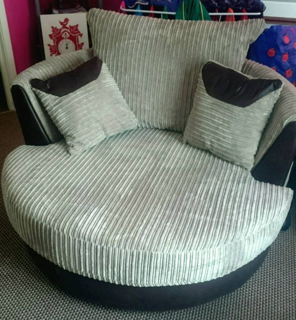 Large Swivel Chairs Living Room Huxley Dfs 3 Seater Sofa And Large Swivel Chair In Cardiff Bay