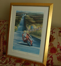 Joey at Creg-Ny-Baa - TT2000 - Stunning Framed Limited Edition Print