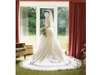 Size 10 Ivory Satin Wedding Dress