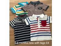3-6 months baby boys polo tshirts