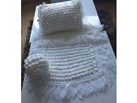 Beautiful crochet pram set