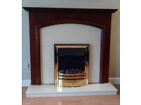 Traditional Wooden Fireplace with Electric Fire