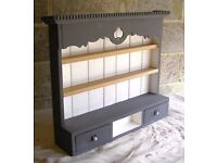 KITCHEN SHABBY CHIC BESPOKE HAND MADE PINE WOOD WALL HANGING VICTORIAN STYLE SPICE RACK