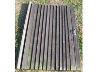 Timber Wooden GARDEN GATE Nr Brighton Sussex 175cm tall x 115 wide