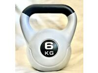 6KG Kettlebell Vinyl Free Weight Weights dumbbell weightlifting home workout gym fitness