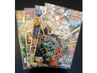Grab bag of 4 collectible comic books. (Image/Black flag E.T.C.)