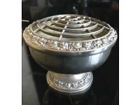 Silver Plated Oasis Holder / Potpourri Vase