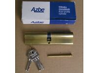 ONE only AZBE EXTRA LONG 60/60mm BRASS EURO DOUBLE PROFILE CYLINDER