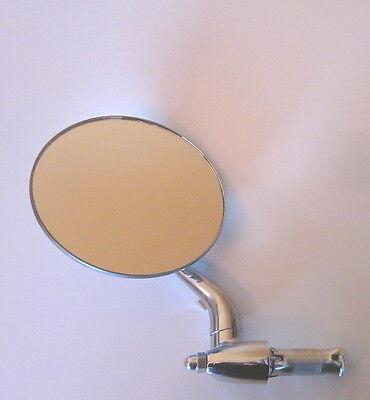 Spiegel rund chrom rostfrei links schwenkbar universal für Motorrad Innenlenker