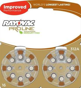 48 Rayovac Proline Hearing Aid Batteries Size 312 FRESH