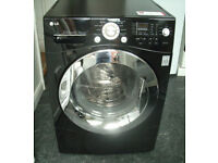 Black LG 8kg Direct Drive Washer Dryer, Washing Machine
