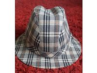 Stylish tartan trilby and 1950s spectacles