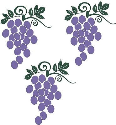 Home Decoration - Grapes Fruit Wall Stickers Vinyl Kitchen Decor Decal