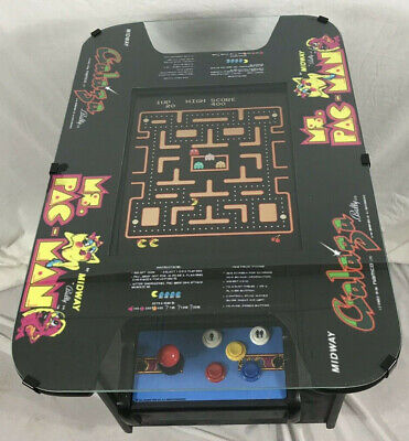 New Ms PacMan Galaga  Cocktail Table Arcade Game Multicade  60 games Full Size (Full Arcade Game)