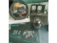 Logitech G29 Driving Force Racing Wheel (PC, PS4, PS3) WITH SHIFTER