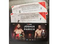 x4 or x2 Anthony Joshua Vs Joshua Parker Floor Seat Tickets B8 By ring walk