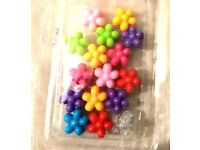 NEW 16 PIECE COLORFUL GIRLS BABIES FLOWER STYLE HAIR BEADS