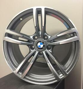 "18"" 5x120 M3 M4 style Gunmetal Machine BMW summer package for 3 series 4 series Limited quantities"