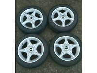 "Mini cooper alloy wheels 16"" 4x100"