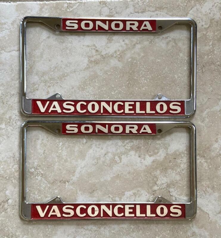 Sonora Vasconcellos California License Plate Frames Pair 1956+