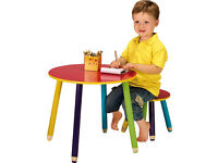 BRAND NEW CHILDRENS PENCIL TABLE AND STOOL