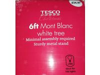 White Mont Blanc 6ft Christmas Tree with Stand.