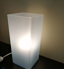 Ikea 'Grono' frosted glass table lamp