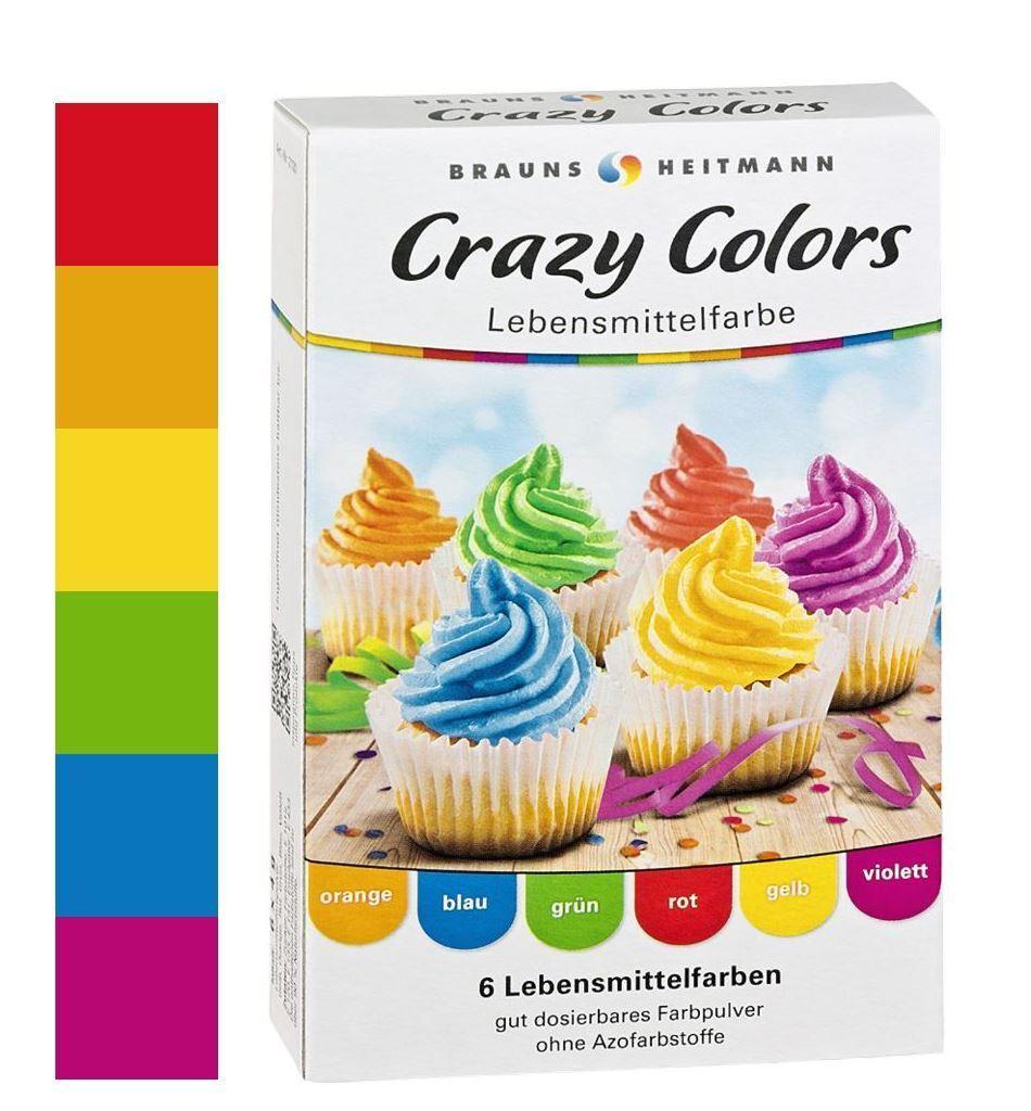 Lebensmittelfarbe Crazy Color Regenbogen 6 Farben im Set Brauns ...