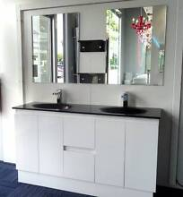 Bathroom Vanity Unit Cabinet 1500mmW Top Basin White Gloss New Underwood Logan Area Preview