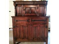 Exquisite solid oak antique sideboard, beautifully crafted.