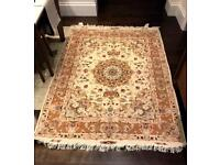 Persian Esfahan wool & silk carpet.