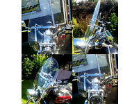 Harley Davidson Touring Screen XL1200 Sportster - Clear Screen with all attachments