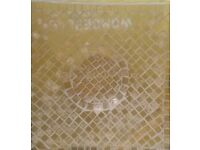 EW Yellow/Gold Mosaic Glass Tile Candle Plate Tableware Decoration Ornament Bathroom/ CHRISTMAS